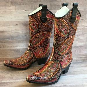 Corkys Cowboy Rubber Rain Boots